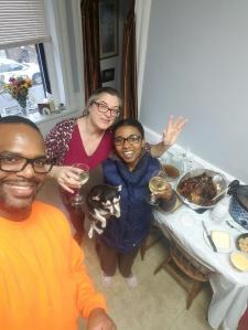 Happy Thanksgiving! Spent with Shara and Nas, xxoo